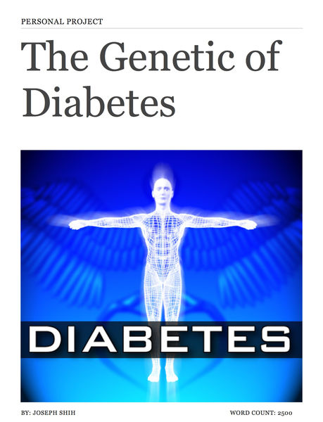 Personal Project Product (Genetic of Diabetes)