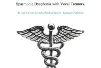 Botulinum Toxin Management of Adductor Spasmodic Dysphonia with Vocal Tremors.