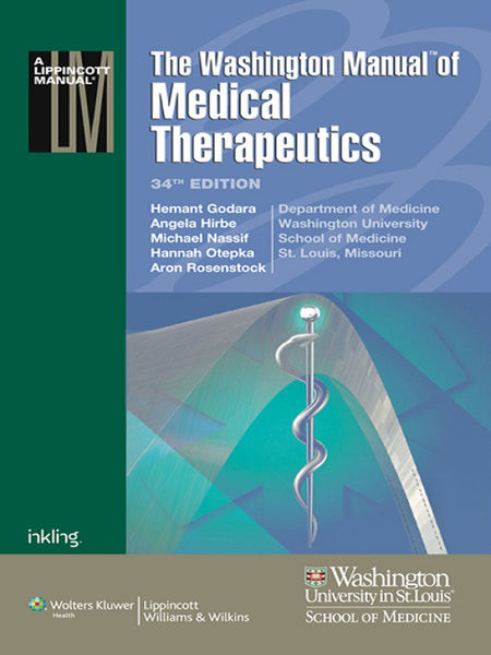 The Washington Manual of Medical Therapeutics: 34th Edition