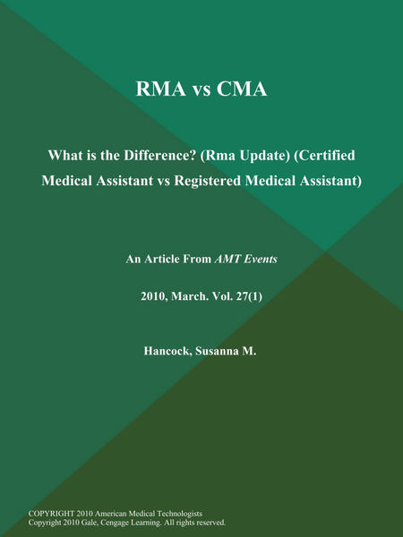 Rma Vs Cma: What is the Difference? (Rma Update) (Certified Medical Assistant Vs Registered Medical Assistant)