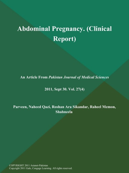 Abdominal Pregnancy (Clinical Report)