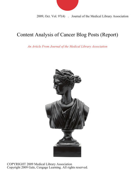 Content Analysis of Cancer Blog Posts (Report)