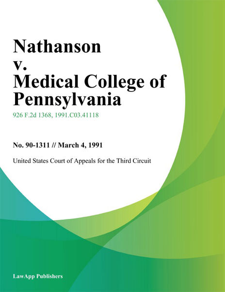 Nathanson V. Medical College Of Pennsylvania