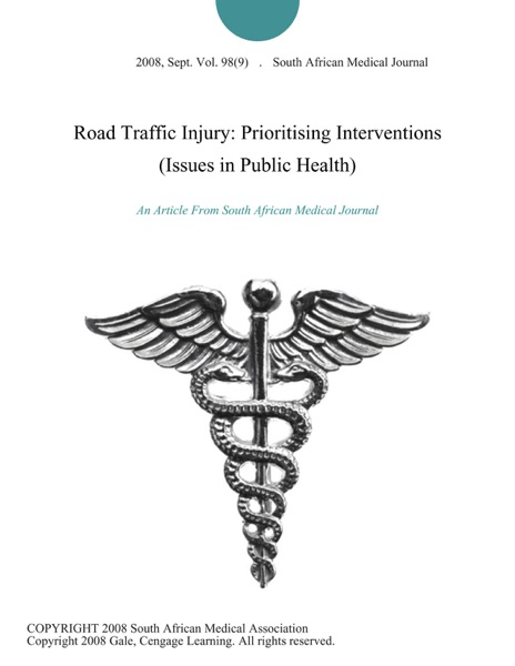 Road Traffic Injury: Prioritising Interventions (Issues in Public Health)