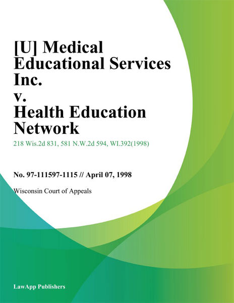 [U] Medical Educational Services Inc. V. Health Education Network