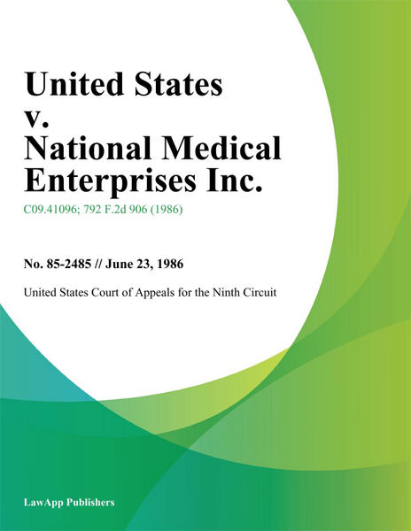 United States V. National Medical Enterprises Inc.