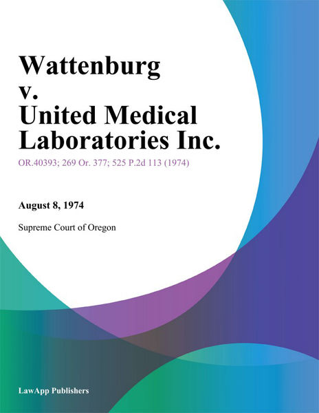 Wattenburg v. United Medical Laboratories Inc.