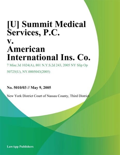 Summit Medical Services