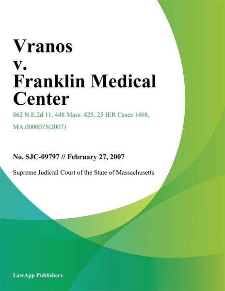 Vranos v. Franklin Medical Center