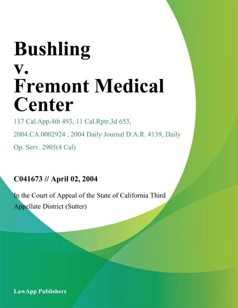 Bushling V. Fremont Medical Center