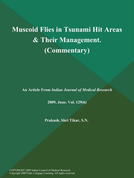 Muscoid Flies in Tsunami Hit Areas & Their Management (Commentary)