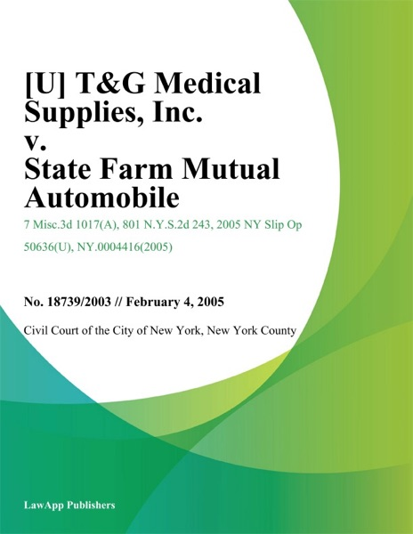 [U] T&G Medical Supplies