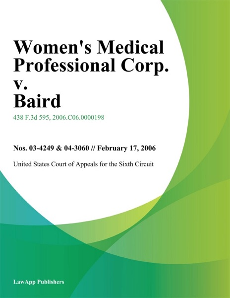 Womens Medical Professional Corp. v. Baird