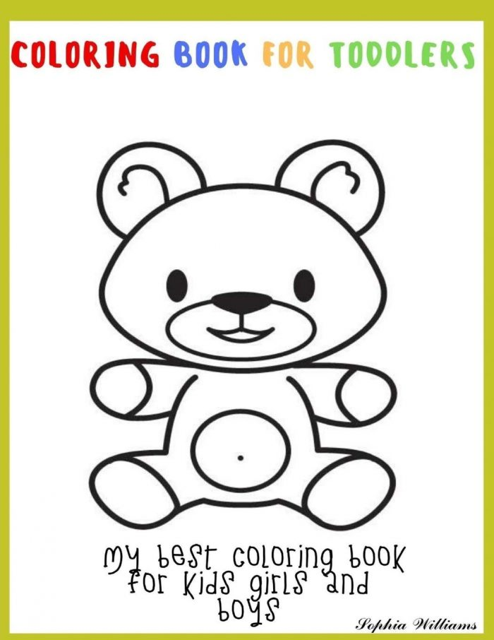 Coloring book for toddlers My best Coloring book for kids girls and boys Large
