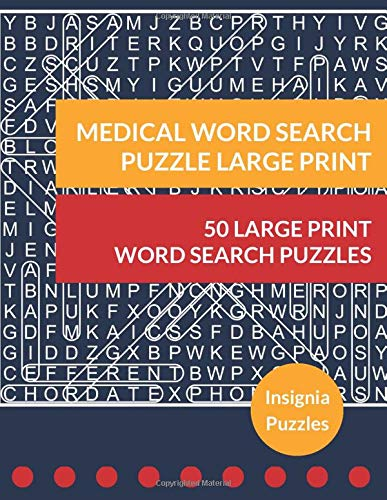 Medical Word Search Puzzle Large Print: One Puzzle Per Page
