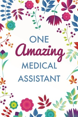 One Amazing Medical Assistant (6x9 Journal): Purple Blue Floral, Lightly Lined,